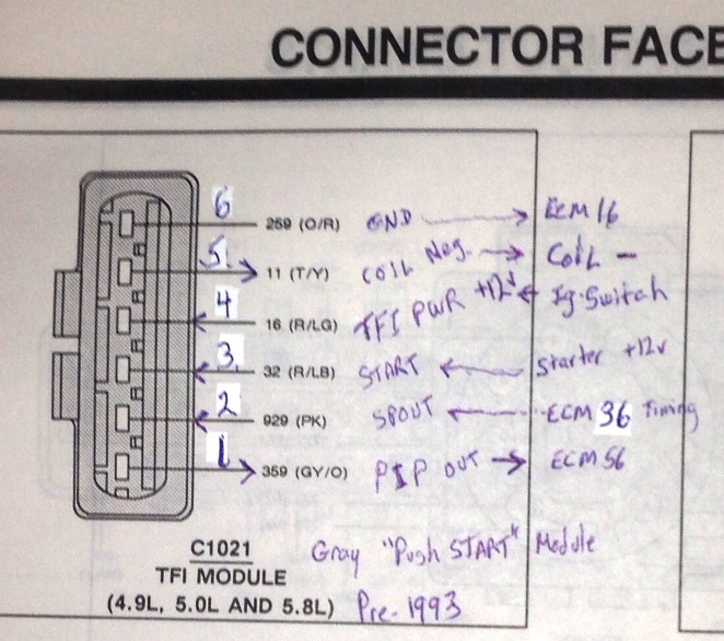 ignition control module confusion page ford bronco forum click image for larger version 1991 bronco tfi connector c1021 corrected small jpg