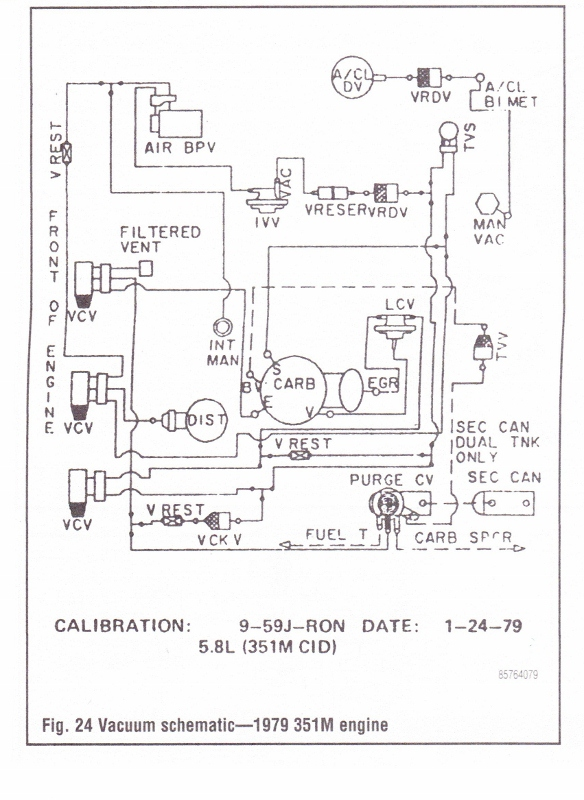 78/79 Emission & Vacuum Diagram Picture Reference | Bronco Forum - Full  Size Ford Bronco Forum | Ford F250 Vacuum Diagram |  | Full Size Bronco Forum