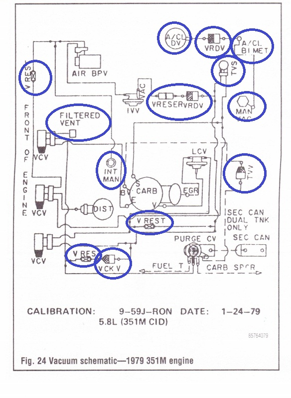 78 79 emission vacuum diagram picture reference ford bronco forum click image for larger version 79 bronco vacuum diagram 001 584x800 missing