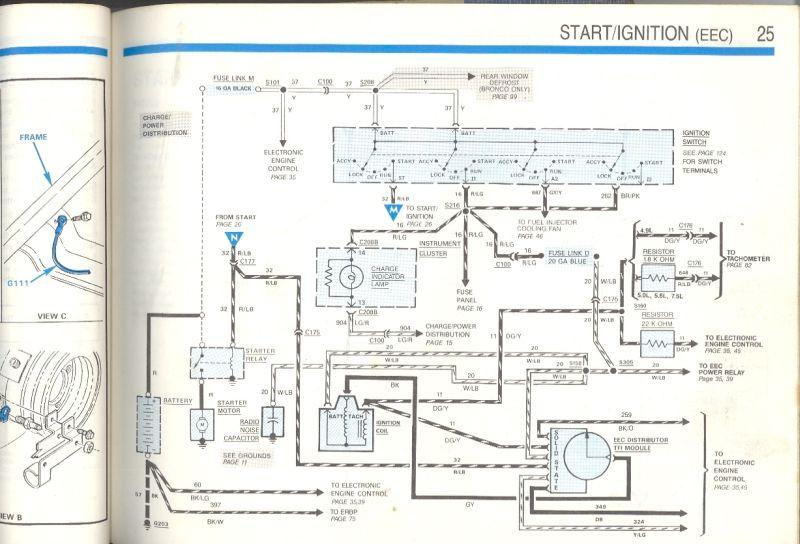 89 5.0L engine wiring diagram - Ford Bronco Forum