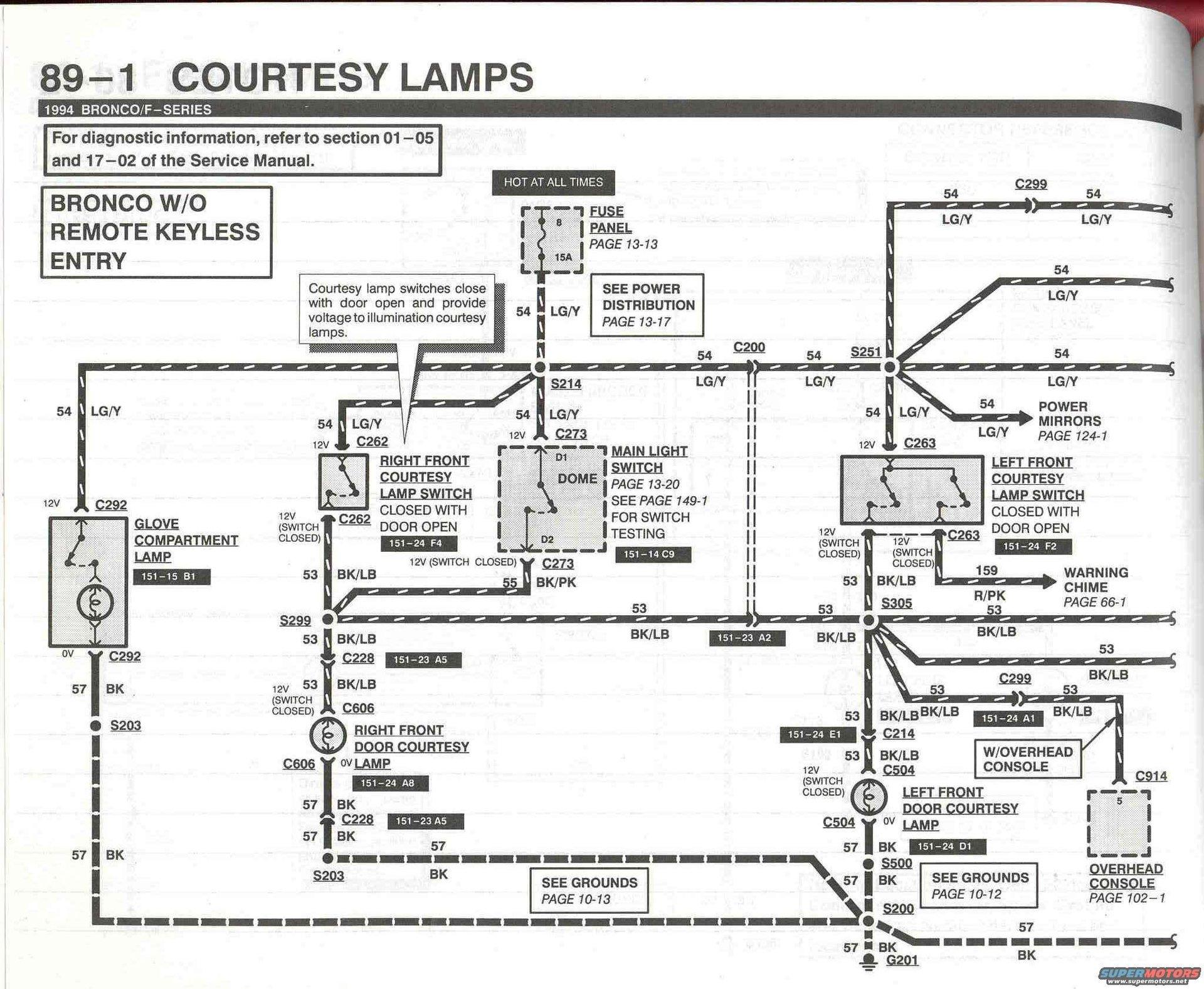 1993 Ford Explorer Speaker Wire Diagram